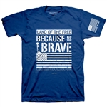 Because of the Brave Adult T-Shirt