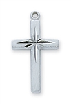 "Sterling Silver ENGlish CROSS on 18"" Chain"