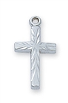 "PENDANT Sterling Silver CROSS on 16"" chain"