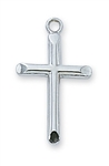 "PENDANT Sterling Silver CROSS on 18""  CHAIN"