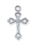 "PENDANT Sterling Silver TINY ENGlish CROSS on 16"" Chain"