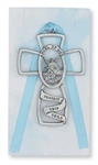Crib Cross Guardian Angel Boy Blue
