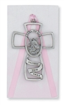 Crib Cross Guardian Angel Pink Girl