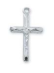 Pendant Rhodium Crucifix Tube 18-in Chain