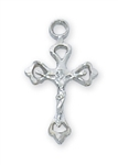 Pendant Crucifix Rhodium 16-in Chain