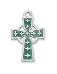 Pendant Celtic Cross Enamel Rhodium