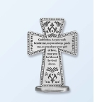 Standing Cross Godfather Pewter