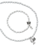 First Communion Necklace & Bracelet w/ Butterfly & Chalice Charm