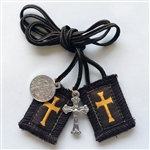 Crusader's Brown Scapular 24-in Cord