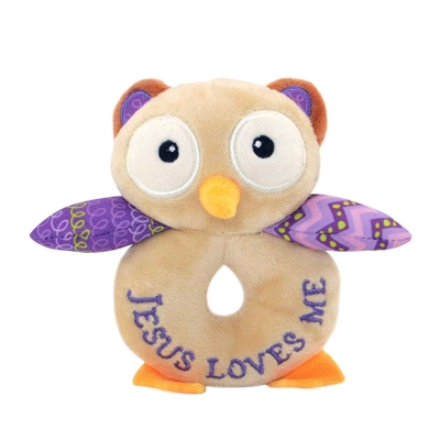 Opal the Owlet Rattle (Lil' Prayer Buddy)