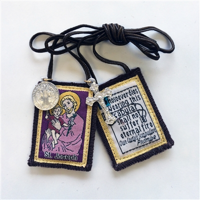 St. Joseph Brown Scapular
