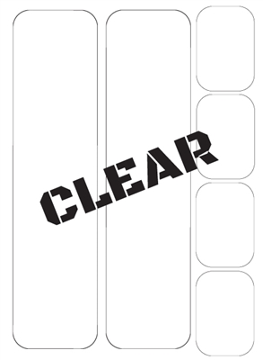 Frame Protection Kit, Clear