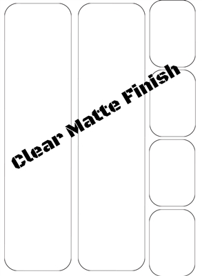 Frame Protection Kit, Clear Matte