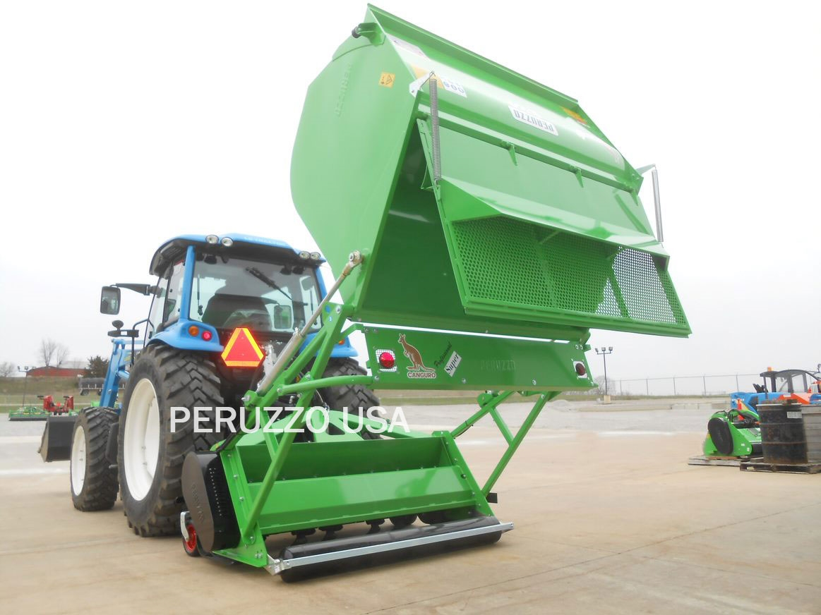 Peruzzo Canguro 1800 Flail Collector w/Hyd High Dump