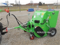 "Peruzzo 48"" Pull Behind Collection Flail Mower with Hopper"