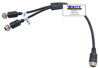 CB117:  Y- Splitter Cable 1 male/2 female