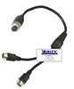 CB118:  .3m Y- Splitter Cable - 1 F to 2 M