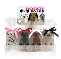 Clearly Fun Doggy Soap Collection - 12 soaps + display