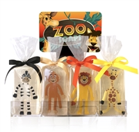 Clearly Fun Zoo Soap Collection - 12 soaps + display