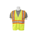 ERB C2 Lime Safety Vest with Orange & Silver Stripes