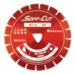 Husqvarna Soff-Cut Red Diamond Blade with Safety Arbor