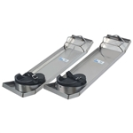 "Kraft 28"" x 8"" Lightweight Stainless Steel Knee Boards (Pair)"