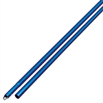 "Kraft 6' Anodized Aluminum Swaged Button Handle - 1-3/4"" Diameter (Blue)"