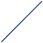 "Kraft 6' Anodized Aluminum Swaged Button Handle - 1-3/8"" Diameter (Blue)"