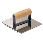 "Kraft 6"" x 6"" Safety Groover with Wood Handle"
