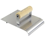"Kraft 6"" x 8"" Stainless Steel Hand Edger/Groover 3/4""R 1/4""Bit with Wood Handle"