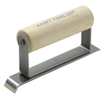 "Kraft 6"" x 1"" 3/4""L Stainless Steel Chamfer Edger with Wood Handle"