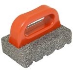 "Kraft 6"" x 3"" x 1"" Rub Brick with Handle - 20 Grit"