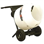 Multiquip MC3PEA 3 CF Poly Drum Concrete Mixer with 3/4 HP Electric Engine