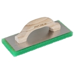 "Kraft 10"" x 4"" x 3/4"" Green Coarse Texture Float with Wood Handle"