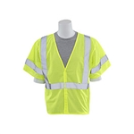 ERB C3 Lime Safety Vest with Silver Stripe