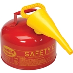 Eagle Type I 2.5-Gallon Safety Red Gas Can with Funnel