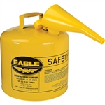 Eagle Type I 5-Gallon Yellow Safety Gas Can with Funnel