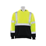 ERB Aware Wear ANSI Class 3 Lime Sweatshirt with Black Bottom