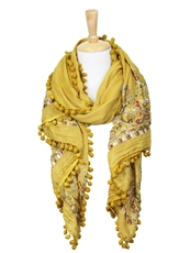 WHOLESALE FASHION SCARF LOF594MUSTARD