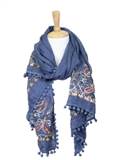 WHOLESALE FASHION SCARF LOF594TEAL