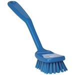 Vikan 3089, Vikan Small Utility Brush - Stiff This small, light-weight brush has a broad head and an ergonomically angled handle. This design raises the user's hand from the cleaning surface, reducing the risk of injury.
