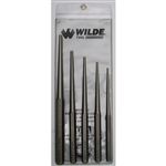 Wilde Tool PLT 5.NP-VP, Wilde Tools- 5-Piece Long Taper Punch Set Manufactured & Assembled in Hiawatha, Kansas U.S.A.<br />
