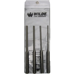 Wilde Tool PPL 4.NP-VP, Wilde Tools- 4-Piece Long Vinyl Pouch Pin Punch Set Manufactured & Assembled in Hiawatha, Kansas U.S.A.<br />