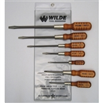 Wilde Tool SW7-VP, Wilde Tools- 7-Piece Wooden Handle Screw Driver Set Manufactured & Assembled in U.S.A.<br />