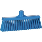 "Vikan 3166, Vikan Broom- Straight Neck Medium 12"" This fully color-coded straight neck floor broom is designed to gather particles such as paper, vegetables, fish."