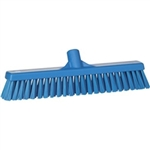 Vikan 3174, Vikan Broom - Soft / Stiff 2x16 This fully color-coded sweeping broom has two types of bristles to pick up every particle.