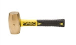"ABC Hammers, Inc.-4 lb. Brass Hammer with 8"" Fiberglass Handle"