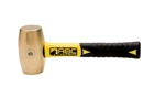 "ABC Hammers, Inc.-5 lb. Brass Hammer with 8"" Fiberglass Handle"
