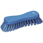 Vikan 3889, Vikan Hand Scrub Brush- Flared, Stiff This multi-purpose brush has angled bristles to enable a cleaner to scrub tables, chopping boards, buckets, large scaled bowls and equipment