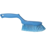 Vikan 4167, Vikan Ergonomic Hand Brush - Flagged This ergonomic hand brush is fully color-coded and has split fiber bristles that retain water for a good washing effect.